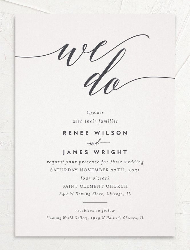 We Do Wedding Invitations The Knot