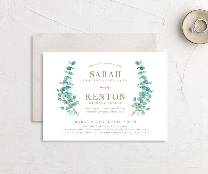 Elegant Eucalyptus Wedding Invitations