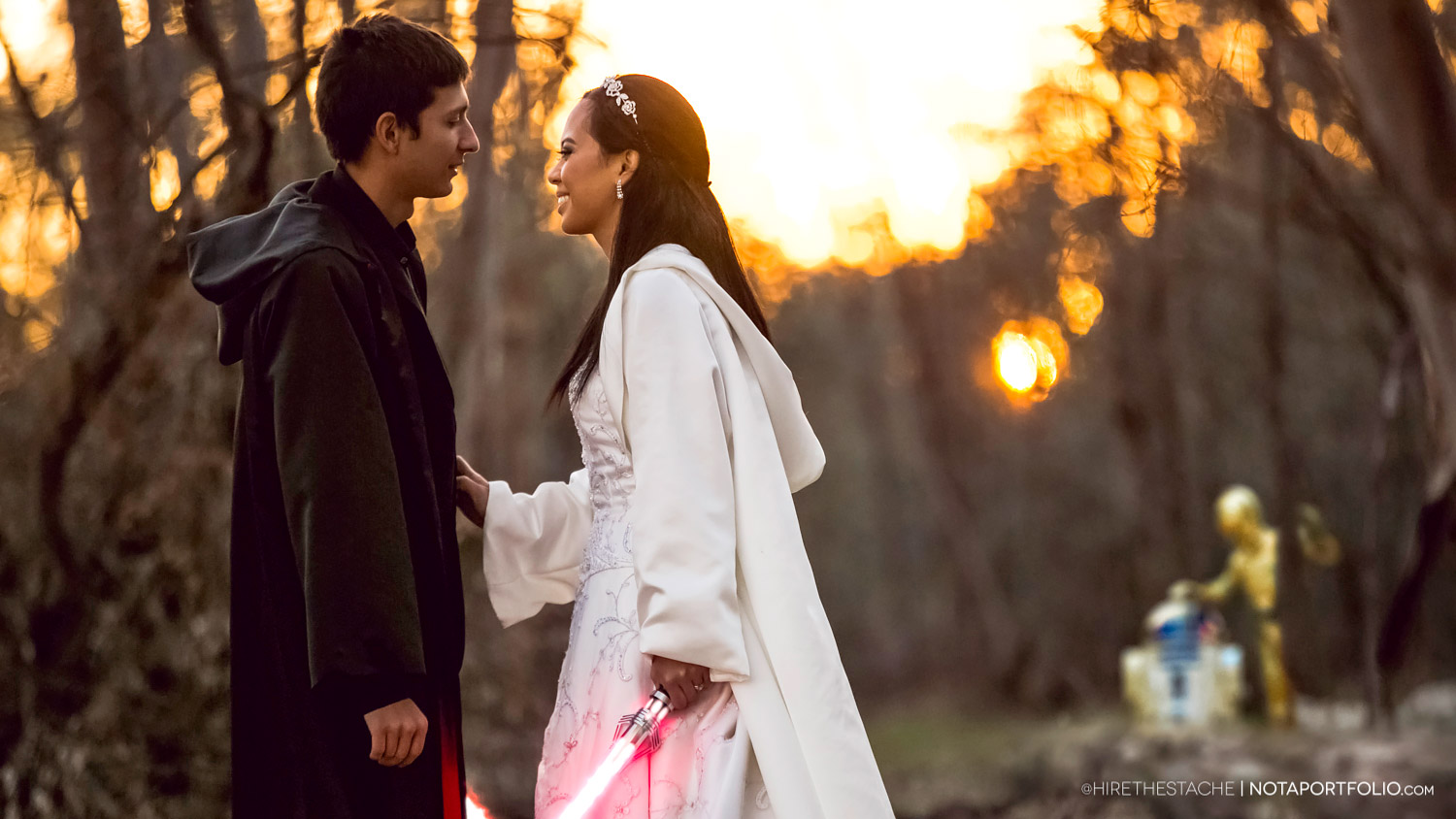 Star Wars Wedding on 5000 Budget Features Lightsabers