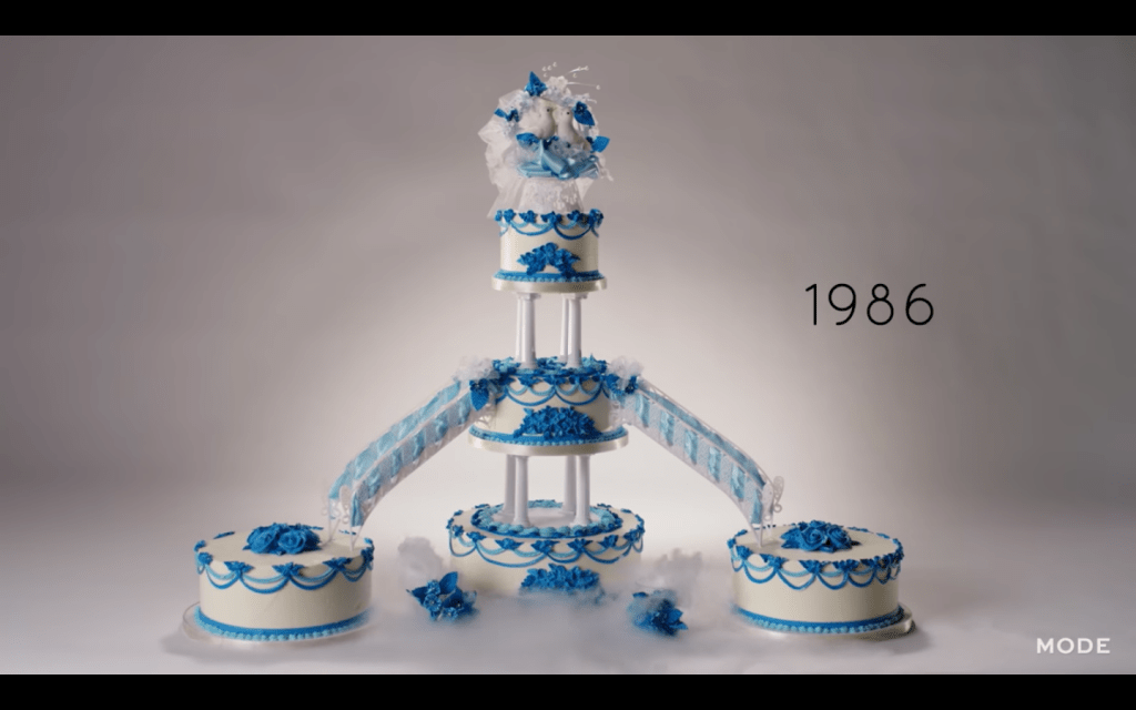 100 Years of Wedding Cakes in Less Than 3 Minutes Video