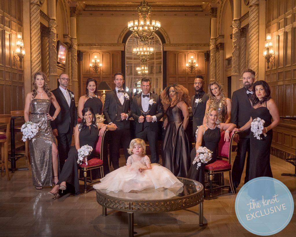 David Tutera and Joey Toths Lavish Black Tie Wedding