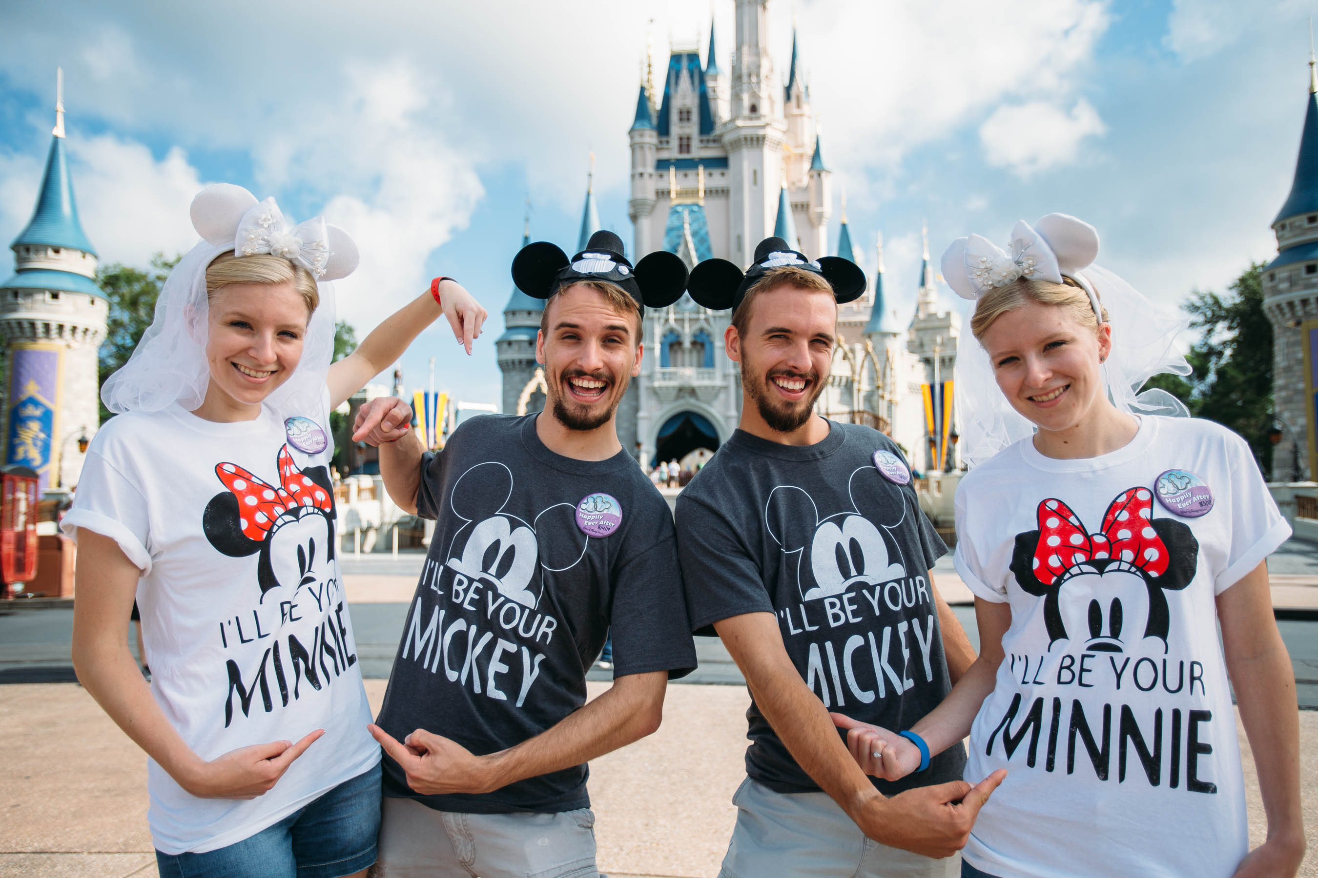 Identical Twin Couples Celebrate Joint Honeymoon At Disney