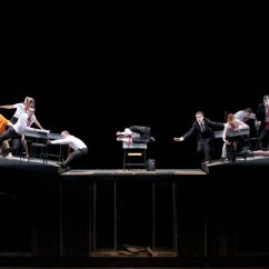 """French Cafe Chairs Small Bedroom Bam's """"rhinocéros"""" Is Dazzling Staging Of Ionesco's Anti-fascist Allegory – The Komisar Scoop"""