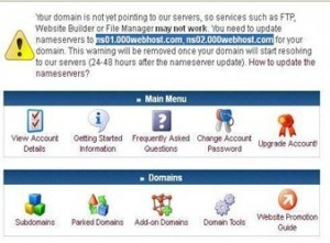 000webhost domain mapping nameservers
