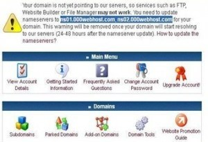 000webhost domain mapping nameservers