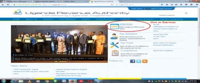 Uganda Passport Application Bank Paymenyt Slip URA