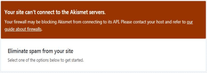 Akismet plugin error