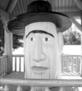 Biggest Wooden Head In Revelstoke