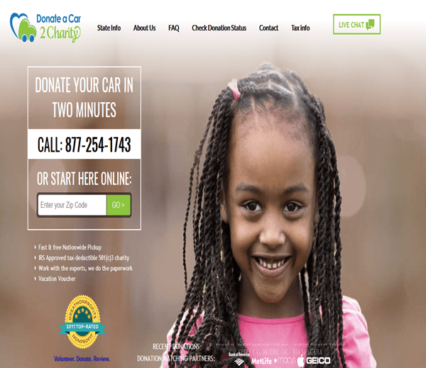 Donateacar2charity.com