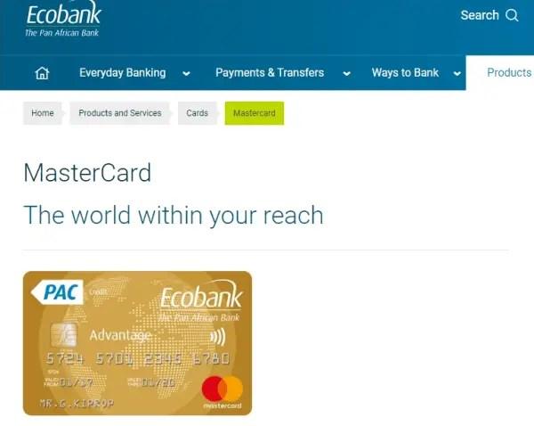 Ecobank Mastercard