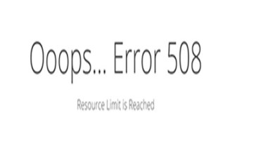 Error 508 Resource Limit Is Reached