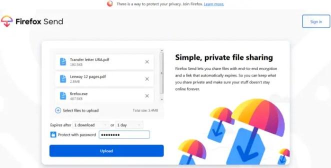 Firefox Send review