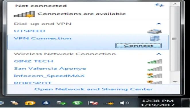 Going online through VPN Reactor connection