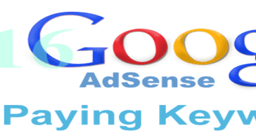 Google AdSense High Paying Keywords 2016