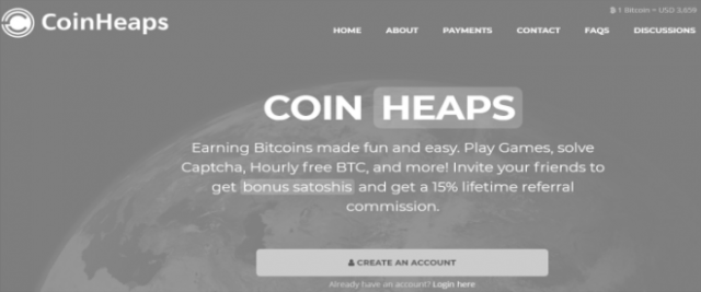 How to earn free Bitcoin on coinheaps