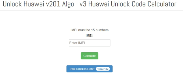 Huawei unlock code calculator online