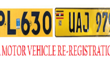 URA latest car number plates in Uganda