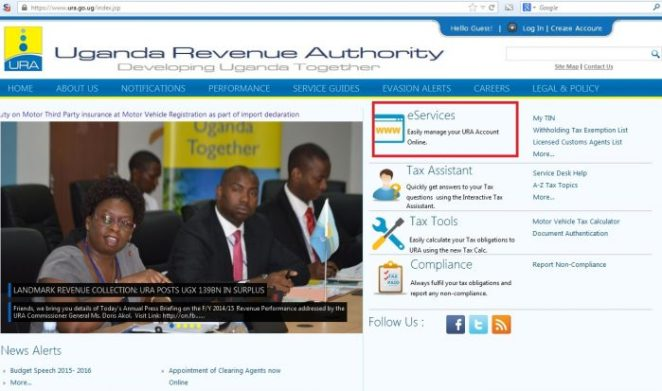 URA web portal