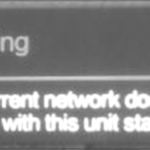 Warning! The Current Network Does Not Comply With This Unit Standard!