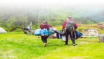 Camping with motorbikeq