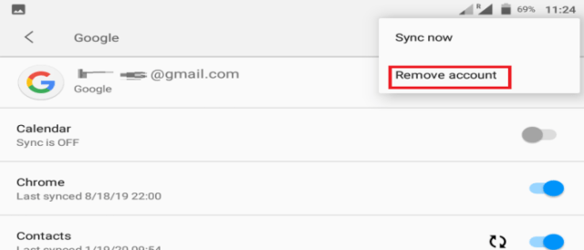 remove google account huawei