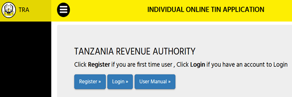 KRA Tanzania TIN number online registration