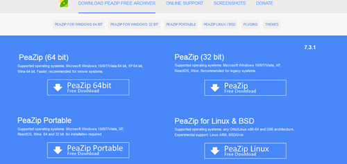 PeaZip free archiver utility