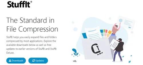 Stuffit file compression tool