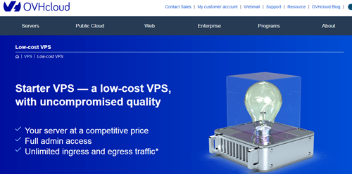 OVHCloud cheap VPS hosting