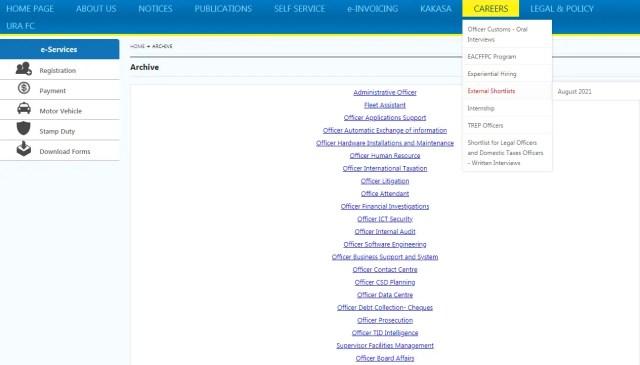 URA Shortlisted Candidates