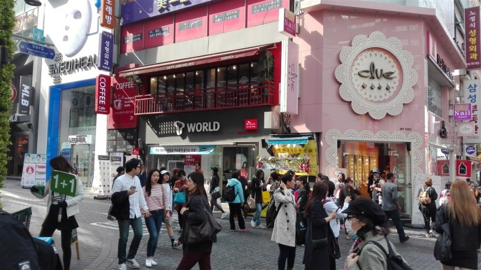 Myeondong echanger des wons - blog corée du sud - the korean dream