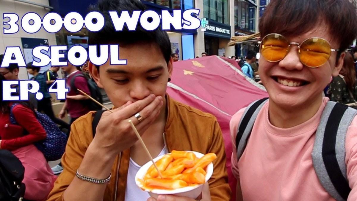 #4 Une journée à Séoul pour 30,000 wons - Street food à Myeongdong