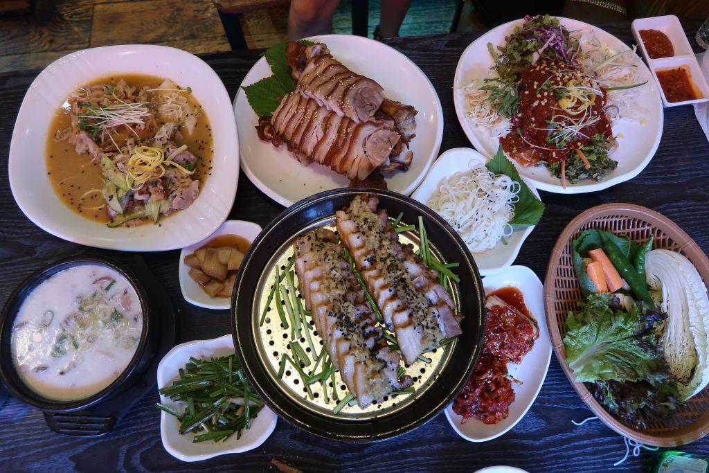 jokbal pied de porc restaurants coréens