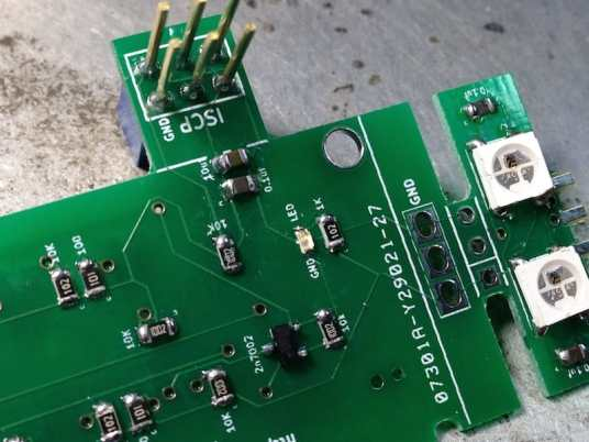 Components mounted on the board.
