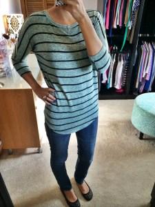 Corinna Striped Dolman Top