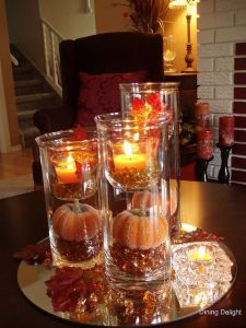 Fall Dinning Room Center Piece