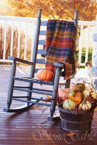 Fall rocking chair