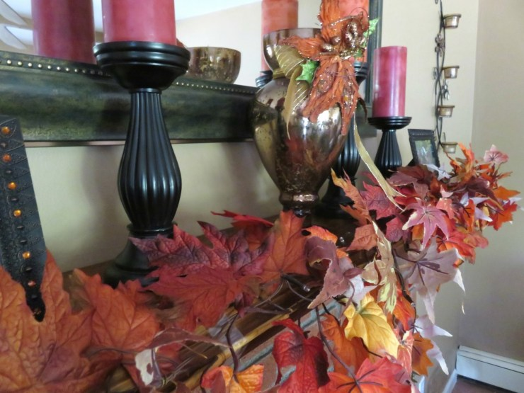Fall Decor Fire Place Mantel // Currently September 2016 // The Krystal Diaries