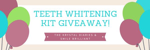 Smile Brilliant Teeth Whitening Giveaway // The Krystal Diaries