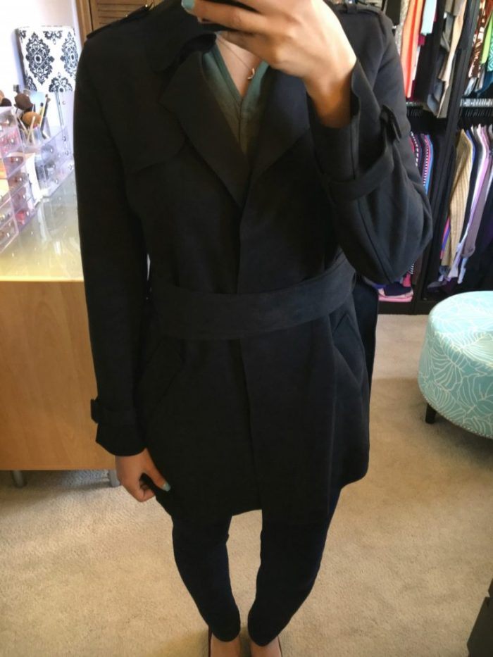 Love Token - Sessair Faux Suede Trench Jacket Stitch Fix Review October 2016 // The Krystal Diaries