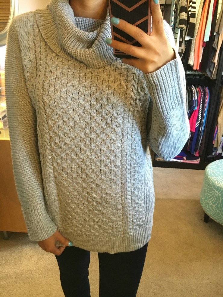 Skies are Blue Linette Cowl Neck Pullover // titch Fix Review October 2016 // The Krystal Diaries