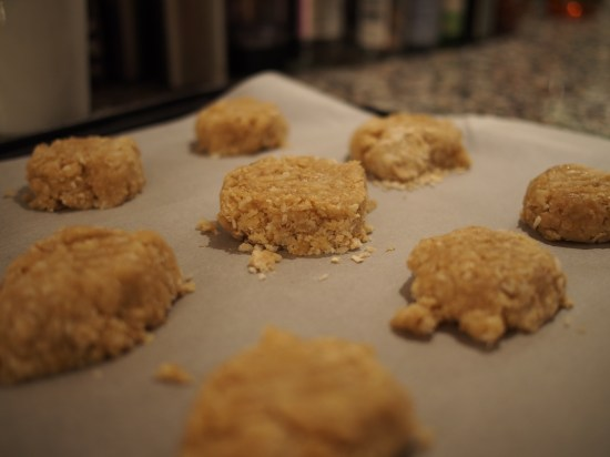 Anzac biscuit before baking