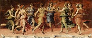 Baldassare Peruzzi - Dance of Apollo with the Nine Muses