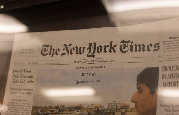 Kalamazoo College students, faculty, and staff suddenly find themselves with free access to the digital New York Times (Van Forsman / The Index)