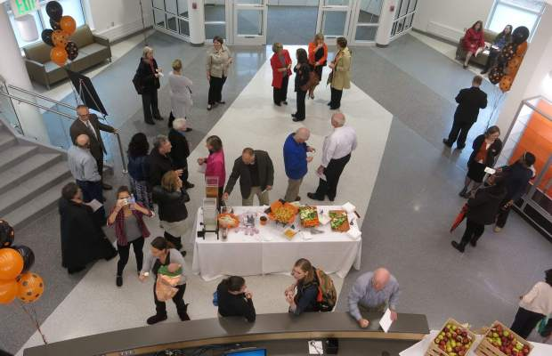 Last Wednesday's dedication of the Fitness and Wellness Center [Photo courtesy of Chuck Stull].