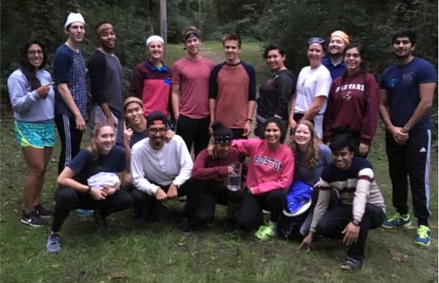 Student Government 2016 poses during weekend retreat. Photo courtesy of Brian Dietz.