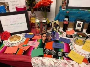 Día de los Muertos altar outside of the Intercultural Center [Meredith Ashton / The Index].