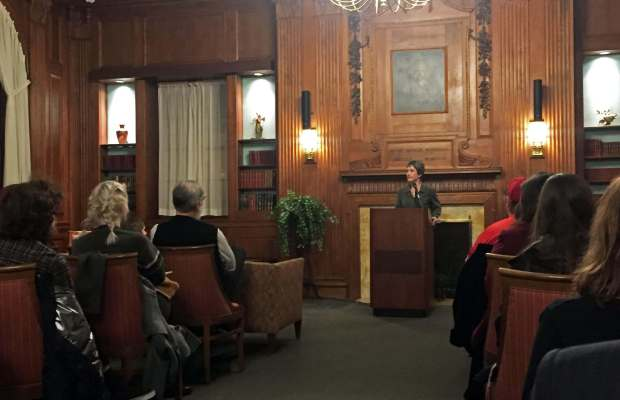"Dr. Wenger speaks at Armstrong Lecture: ""Making Religion on the Reservation"" [Ayla Hull / The Index]."