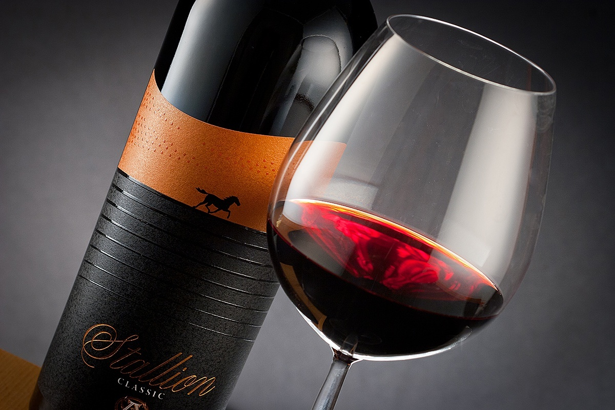 Stallion wine labels  power style and high class