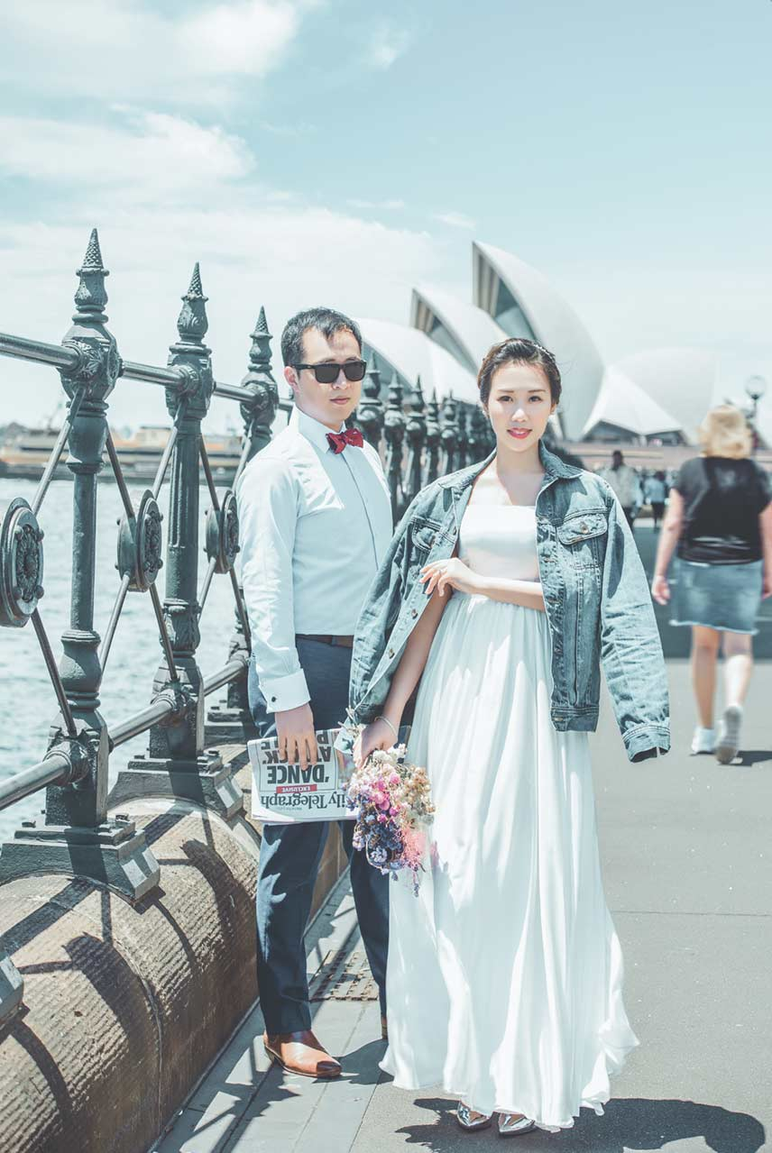 Sydney Opera House Pre-wedding Photo // The Lacy Day